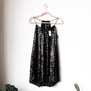 Express Black Sequin Party Dress